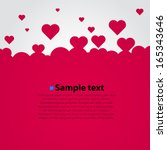 Many flying hearts. Simple design. Hearts love background. Vector background.