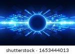 abstract futuristic digital... | Shutterstock .eps vector #1653444013