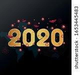 virus corona flu dangerous... | Shutterstock .eps vector #1653445483