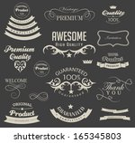 calligraphic design elements... | Shutterstock . vector #165345803