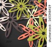 flower background | Shutterstock .eps vector #165348419