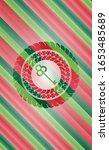 key icon inside christmas badge ... | Shutterstock .eps vector #1653485689