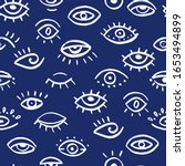 seamless pattern of hand drawn... | Shutterstock .eps vector #1653494899