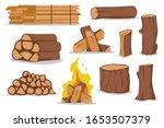Log And Firewood Vector Cartoon ...