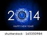 vector 2014 happy new year blue ... | Shutterstock .eps vector #165350984