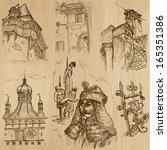 traveling series  romania  set... | Shutterstock .eps vector #165351386