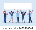 group of five young people... | Shutterstock .eps vector #1653518569