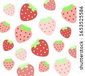 fruit pattern.cute red... | Shutterstock .eps vector #1653525586