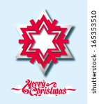 christmas background with paper ... | Shutterstock .eps vector #165353510