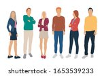 set of men and women  different ... | Shutterstock .eps vector #1653539233