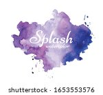 abstract purple watercolor on...   Shutterstock .eps vector #1653553576