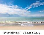Beach Of Sanibel Island With...