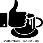 best coffee silhouette icon... | Shutterstock .eps vector #1653558589