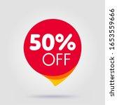 50 percent off discount sticker.... | Shutterstock .eps vector #1653559666