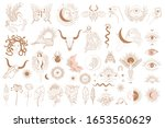 collection of mythology objects ... | Shutterstock .eps vector #1653560629