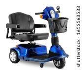 Black   Blue 3 Wheel Mobility...