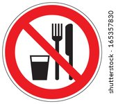 do not eat and drink | Shutterstock .eps vector #165357830