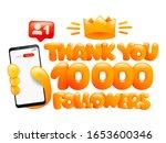 10000 followers  thank you... | Shutterstock .eps vector #1653600346