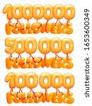 1000000 followers concept card... | Shutterstock .eps vector #1653600349