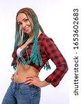 beautiful european girl with...   Shutterstock . vector #1653602683