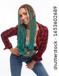 beautiful european girl with...   Shutterstock . vector #1653602689