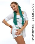 beautiful european girl with...   Shutterstock . vector #1653602773