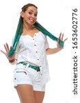 beautiful european girl with...   Shutterstock . vector #1653602776