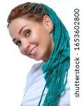 beautiful european girl with...   Shutterstock . vector #1653602800