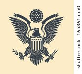 cut out american eagle emblem... | Shutterstock .eps vector #1653615550