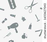 barbershop   vector background  ... | Shutterstock .eps vector #1653627043