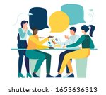 vector illustration  workers... | Shutterstock .eps vector #1653636313