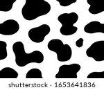 texture cow white black spot...   Shutterstock .eps vector #1653641836