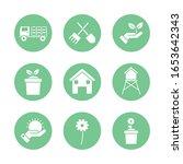 silhouette block style icon set ... | Shutterstock .eps vector #1653642343