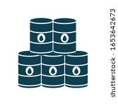 barrels silhouette style icon... | Shutterstock .eps vector #1653642673