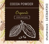 cocoa packaging design template.... | Shutterstock .eps vector #1653669343