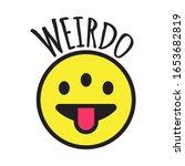 emoji weird three eyed funny... | Shutterstock .eps vector #1653682819