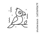 carrot  bird icon. simple line  ...