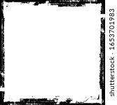 scratched frame. grunge urban... | Shutterstock .eps vector #1653701983