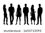 vector silhouettes of  men and...   Shutterstock .eps vector #1653713593