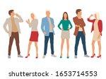 set of men and women  different ... | Shutterstock .eps vector #1653714553