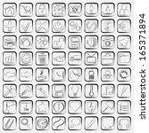 contour web icons vector set | Shutterstock .eps vector #165371894