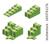 huge packs of paper money.... | Shutterstock .eps vector #1653761176