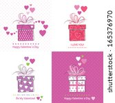 four cute valentines day... | Shutterstock . vector #165376970