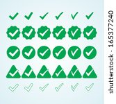 set of icons approval. green...   Shutterstock .eps vector #165377240
