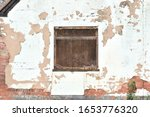 Decaying White Plaster Wall  ...
