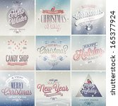christmas set   labels  emblems ... | Shutterstock .eps vector #165377924