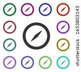 compass multi color style icon. ...