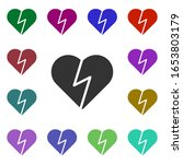 broken heart multi color style...