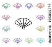 fan multi color style icon....