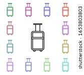 suitcase multi color style icon....